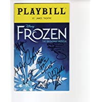 FROZEN AUTOGRAPHED NYC PLAYBILL+COA SIGNED BY CAST