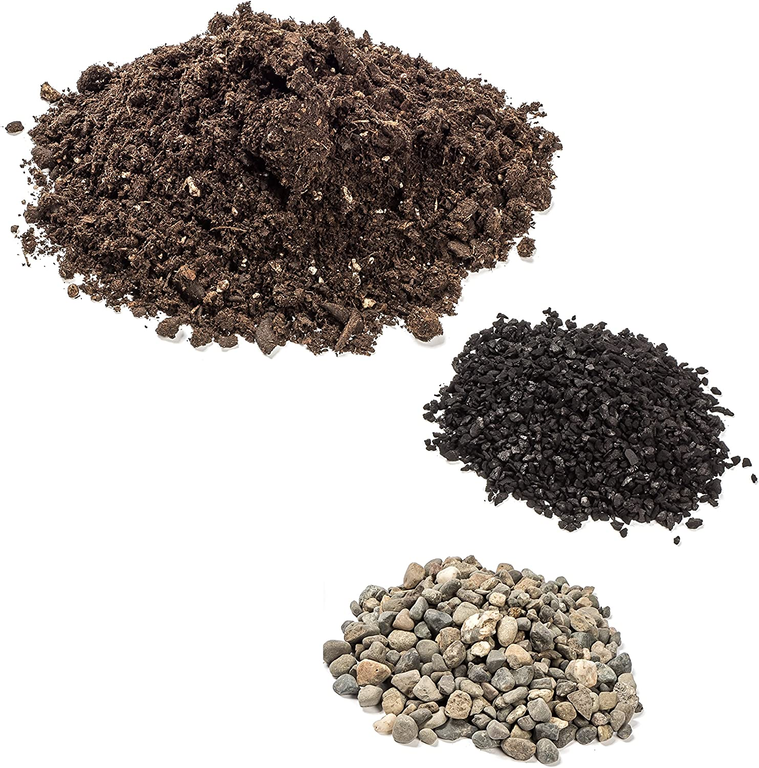 H Potter Terrarium Kit Succulent Soil Supplies for Plants Cactus Planters for Kids with Activated Charcoal from