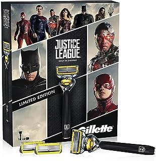 Gillette Fusion ProShield - Set de regalo edición limitada Liga de la Justicia con maquinilla de