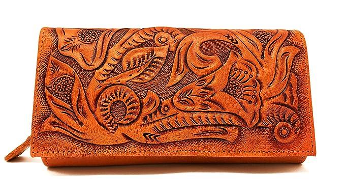 Vintage Handbags, Purses, Bags *New* Narita Vintage Floral Artisan Handmade Leather Wallet Designer Gift for Women (Natural) $69.95 AT vintagedancer.com