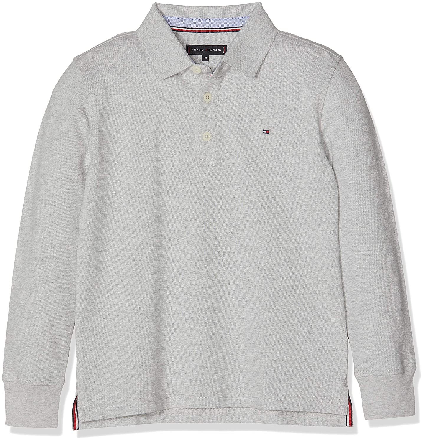Tommy Hilfiger Essential Tommy Polo L/s, Gris (Grey Heather 004 ...