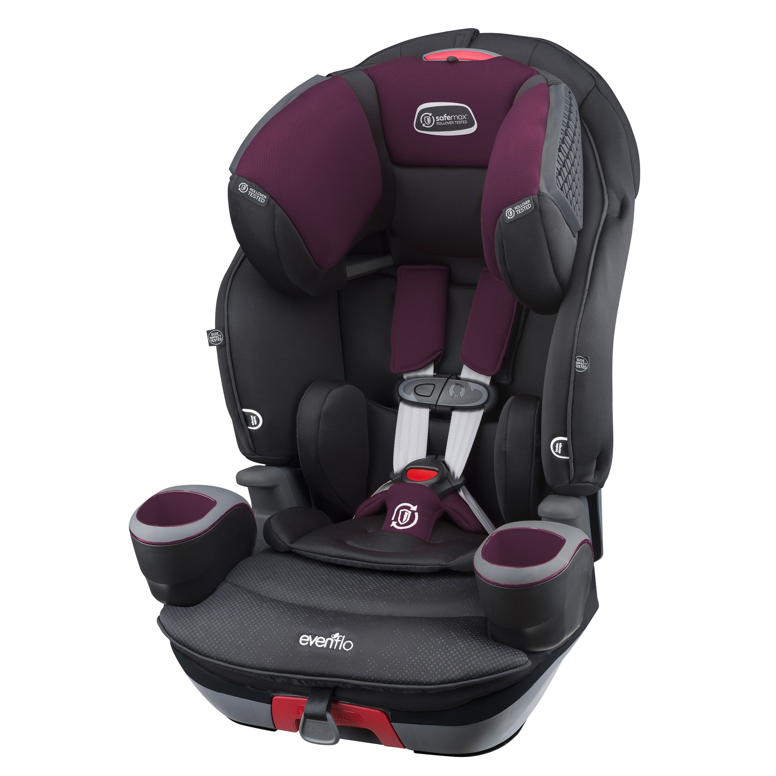 Evenflo SafeMax 3 In 1 Combination Booster Seat Purple Berry