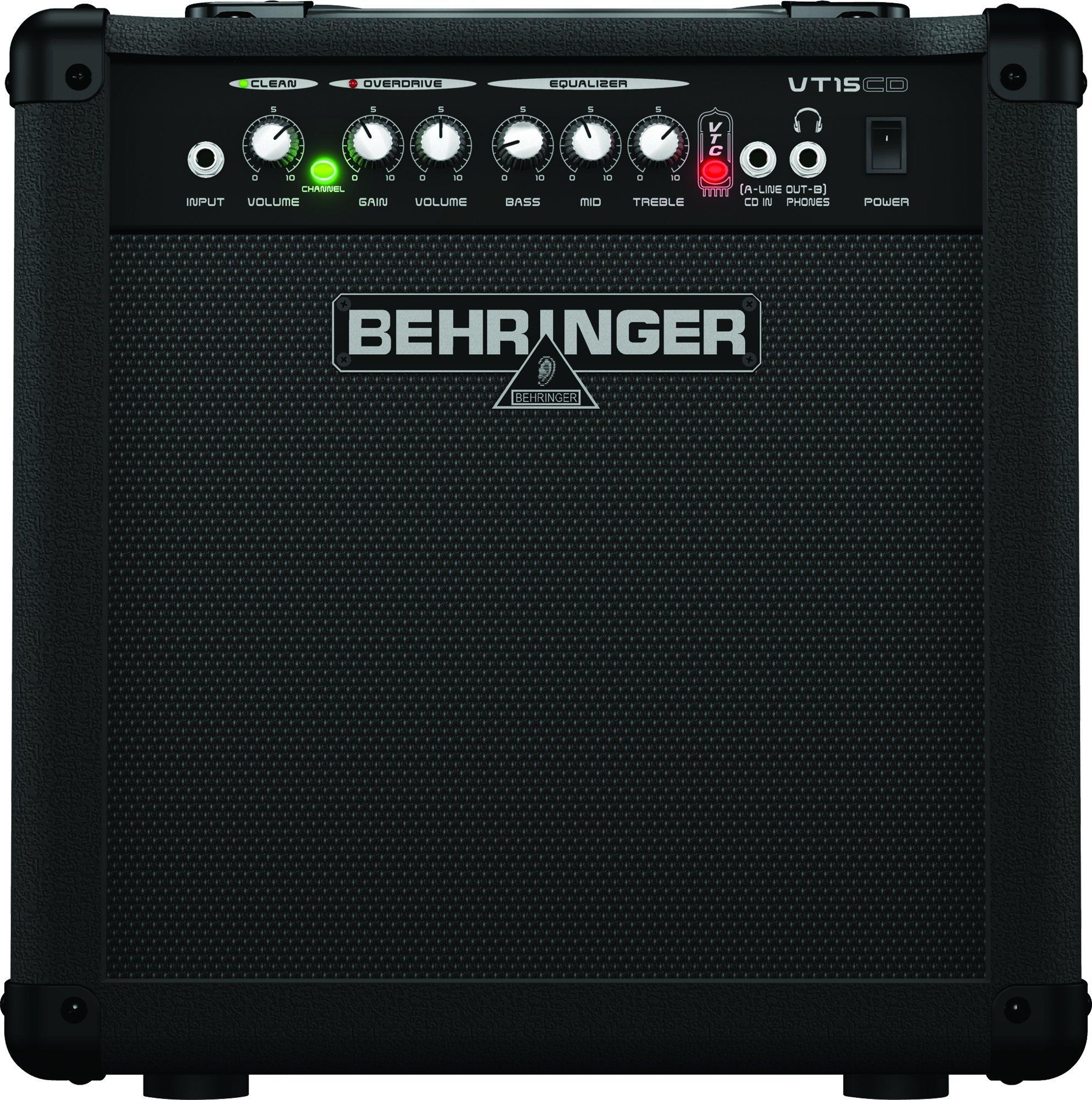 Behringer Virtube Vt15cd 15-Watt Guitar Amplifier With 2 Independent Channels, Vtc Tube Modeling And Original Bugera 8'' Speaker