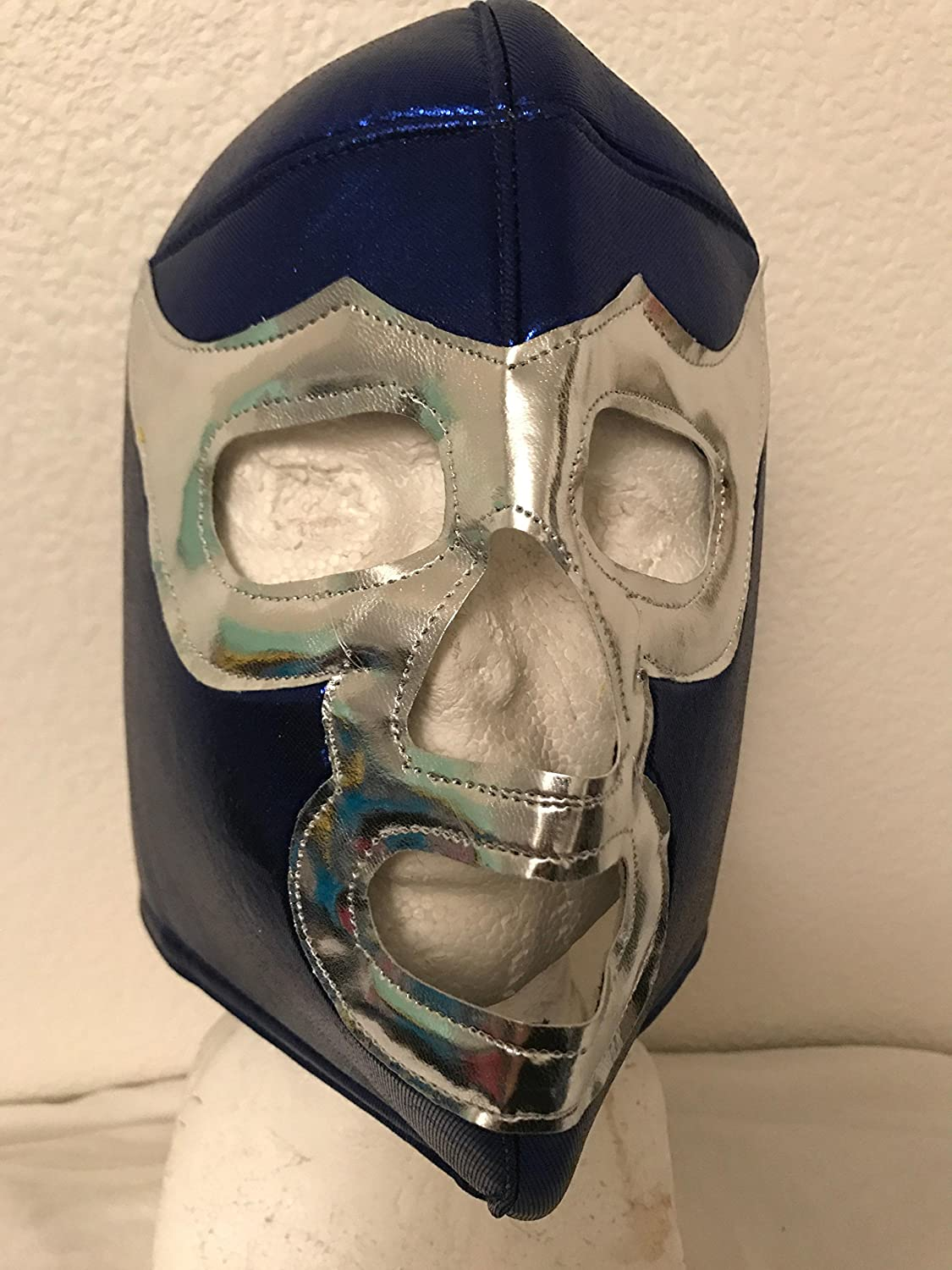 Amazon.com: BLUE DEMON Adult mask Mil Mascaras El Santo LUCHA LIBRE MASK LUCHA UNDERGROUND PENTAGON JR NACHO LIBRE PRINCE PUMA SIN CARA: Everything Else