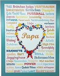 AnneSvea PAPA A3 Vatertag Geburt Poster Druck Geschenk Muttertag Babyshower Babyparty Hochzeit Mothersday Danke Mitbringsel Schwiegermutter