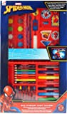 Spiderman 52 Piece MEGA Art And Colouring Box Carry Case Gift Set