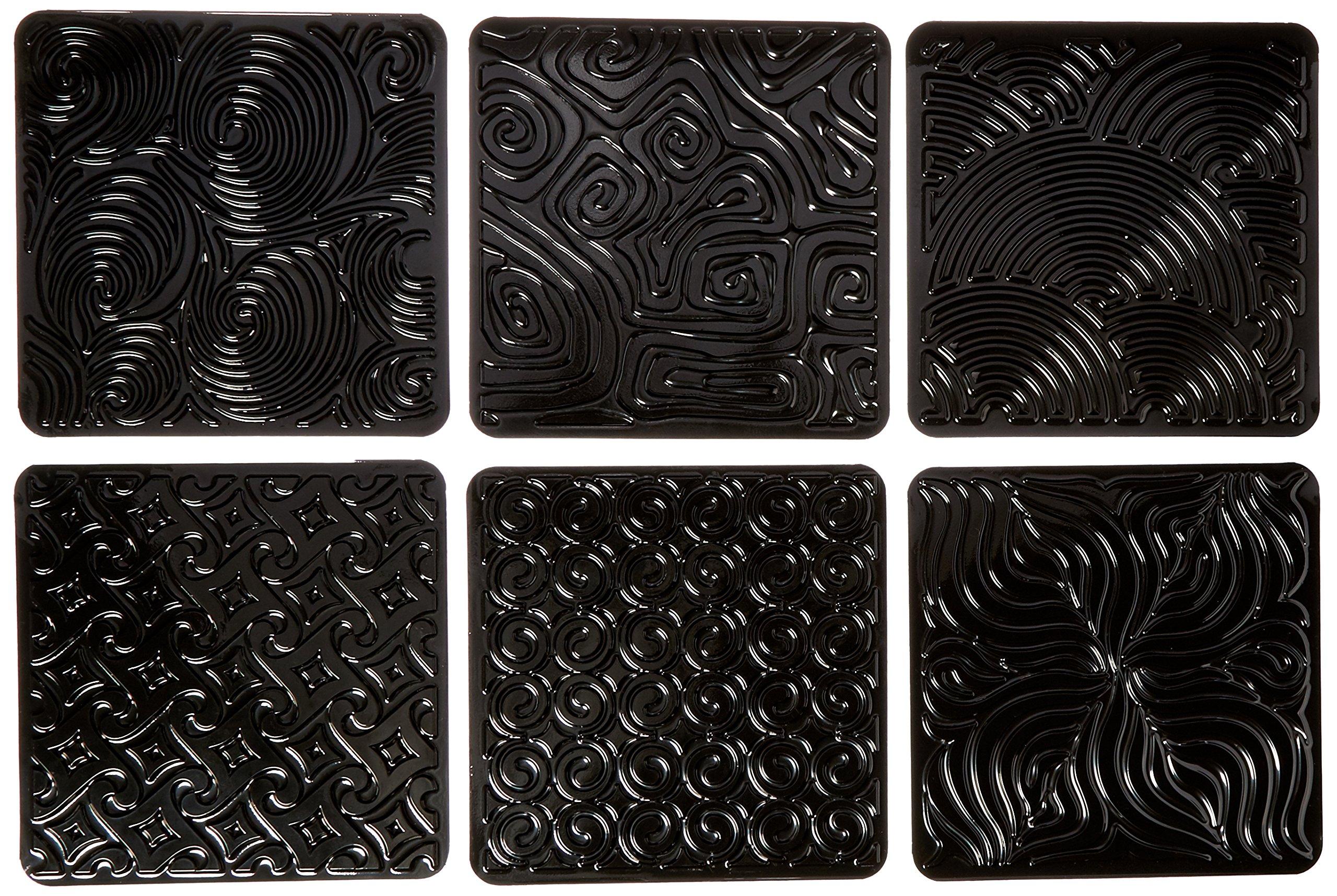Cedar Canyon Jack Richeson Artist's Paint Sticks Rubbing Plates, 6-Pack