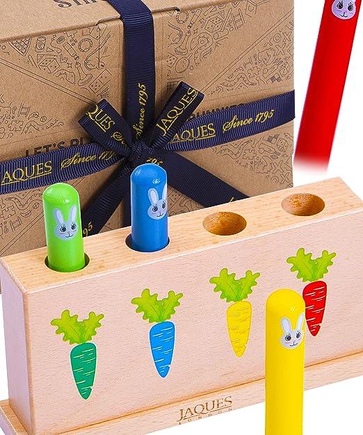 Image of Jaques de Londres juguemos a los conejitos saltarines Juguetes de Madera para bebés - Niños aprendiendo Juguetes Desde 1795