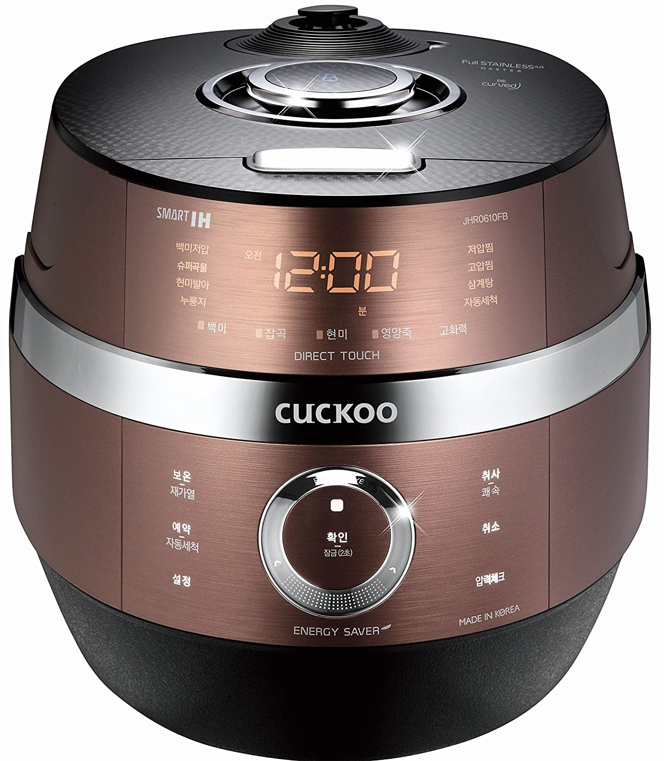 CUCKOO CRP-JHSR0609F 6 Cup Stainless 4.0 Smart Induction Heating Pressure Electric Rice Cooker (6 Cups)