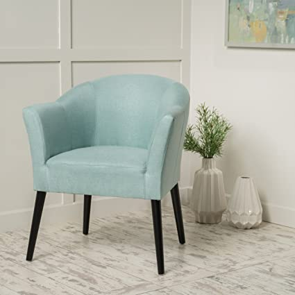 Etonnant Charmaine Light Blue Fabric Arm Chair
