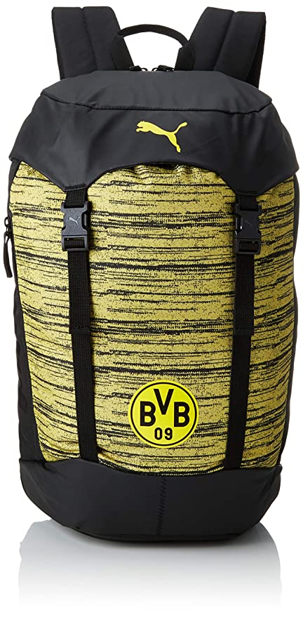 Puma BVB 365 Backpack Mochila, PUMA Black de Cyber Yellow, UA