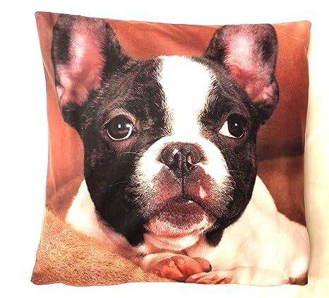 Funda de cojín con impresión Digital de Bulldog francés ...