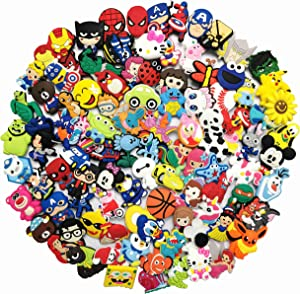100PCS Shoe Charms for Shoe And Wristband Bracelets with Hole Birthday Party Supplies Favors Prize Rewards