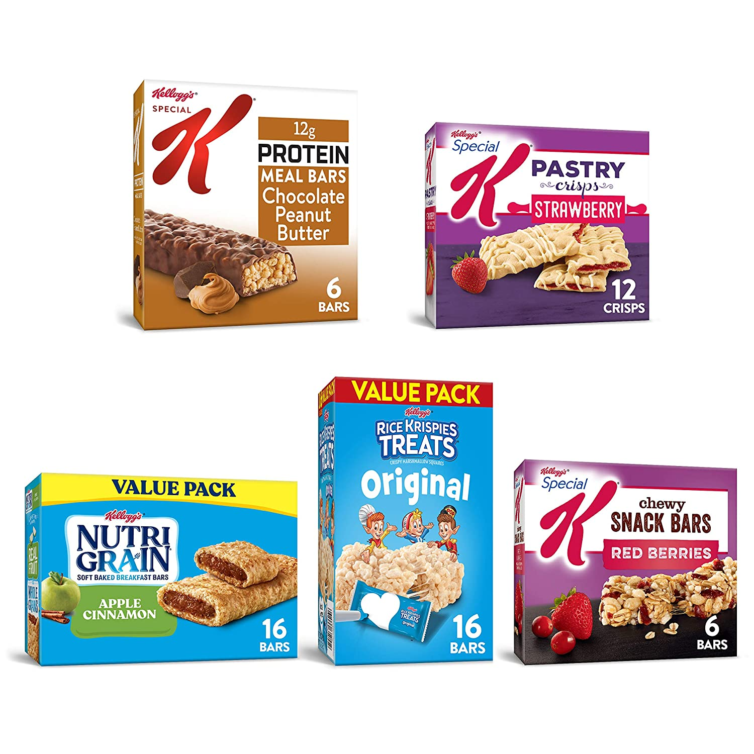 Kellogg's Bulk Snacks Variety Pack, Stock Your Pantry with 5 Delicious Flavors (56 Count)