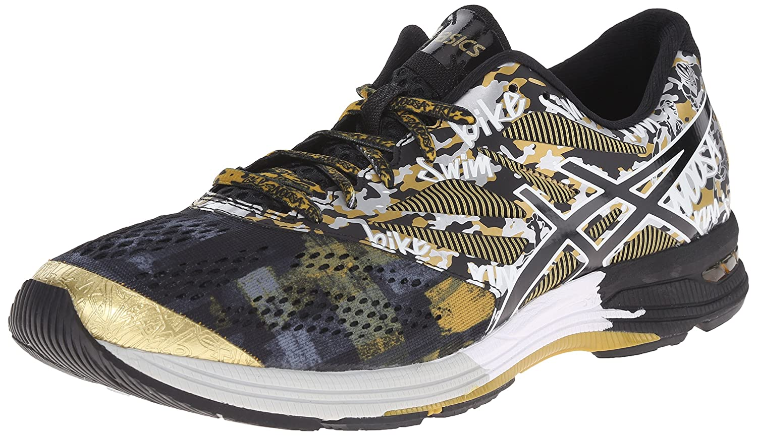 ASICS Men's GEL Noosa Tri 10 GR Running Shoe B00OY2PB1I 8 D(M) US|Black/Onyx/Gold Ribbon