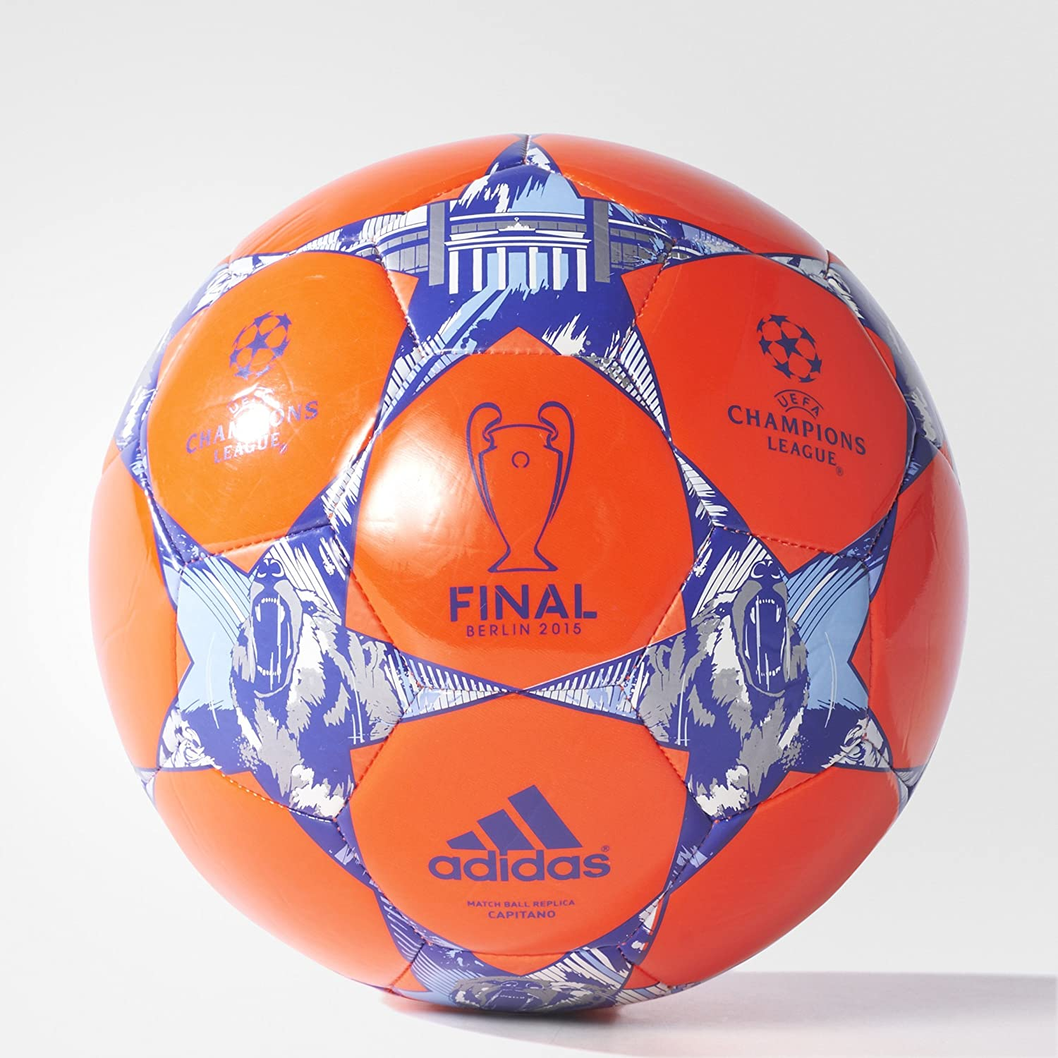 adidas Performance Finale Berlin Capitano Soccer Ball, Solar Red ...