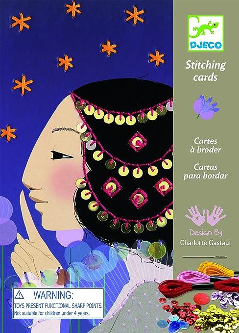 Amazon.com: Djeco Workshops Stitching Cards 1001 Nights Kit ...