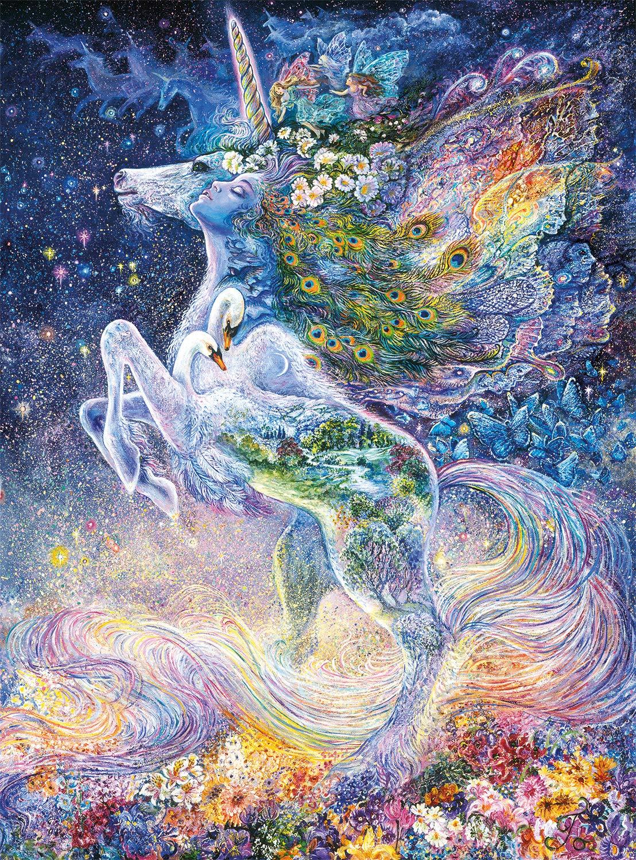 Buffalo Games - Josephine Wall - Soul of a Unicorn (Glitter Edition) - 1000 Piece Jigsaw Puzzle