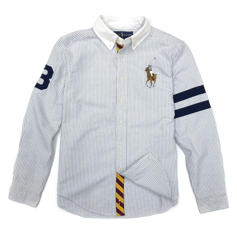 Polo Ralph Lauren Boys Striped Big Pony Cotton Oxford Shirt