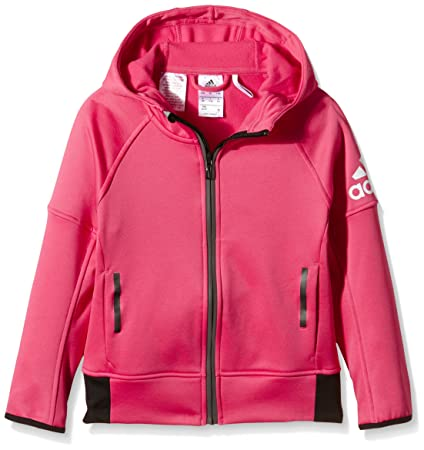 new design new lifestyle quality products adidas Daybreaker Fille Veste à Capuche 9-10 Ans Rose/Blanc ...