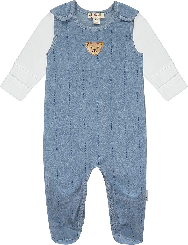T-Shirt Langarm GOTS Steiff Unisex Baby Mit S/ü/ßer teddyb/ärapplikation Set Strampler