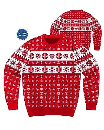 marvel deadpool flakes ugly sweater christmas edition crewneck sweatshirt extra large