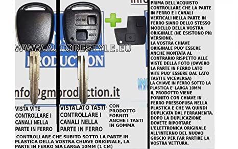 G.M. Production - 1375 + 1729 Llave Carcasa Cáscara Concha ...