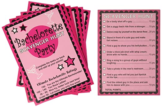Amazon Bachelorette Scavenger Hunt Game Health Personal Care