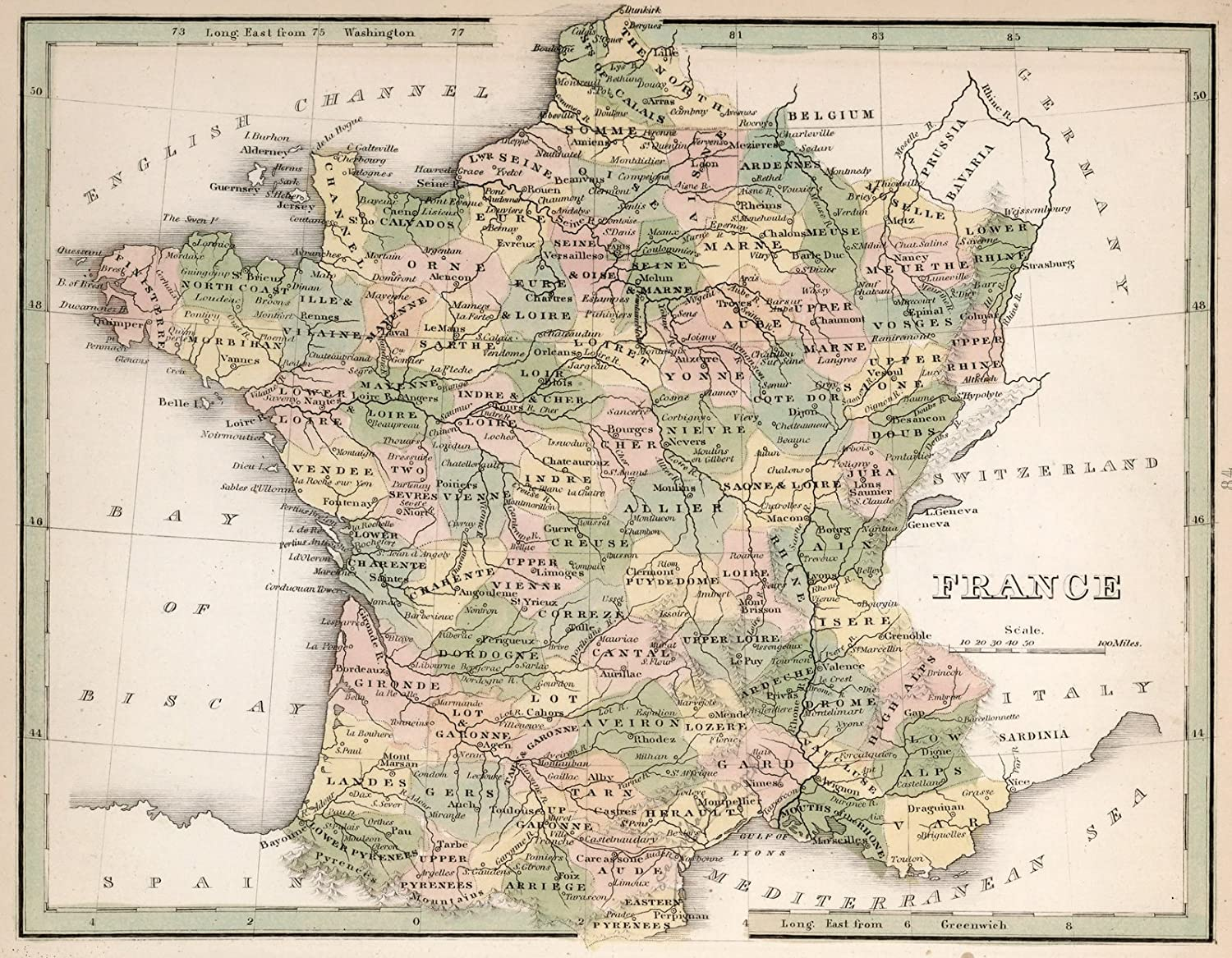 Amazon.com: 1838 World Atlas | France. A Comprehensive Atlas ... on belgium france map, chateau thierry france map, arras france map, le chambon france map, savoy france map, tours france map, london france map, dordogne region france map, barcelonnette france map, belleau wood france map, normandy france map, nice france map, high speed rail france map, france 1940 map, carriveau france map, battle of france map, milan france map, verdun france map, calais france map, meuse france map,