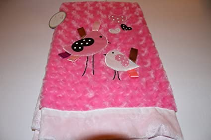 Lollypop morbido e accogliente rosa rosone bebè con uccello applique