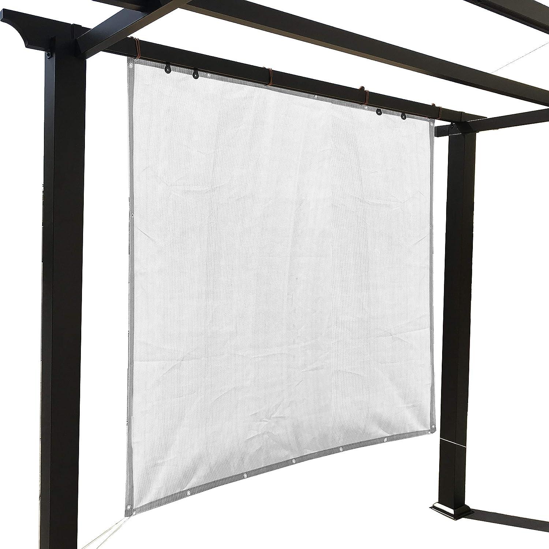 Alion Home - Pantalla de privacidad con ojales en 4 lados para exteriores, patio, toldo, cubierta de ventana, pérgola: Amazon.es: Jardín