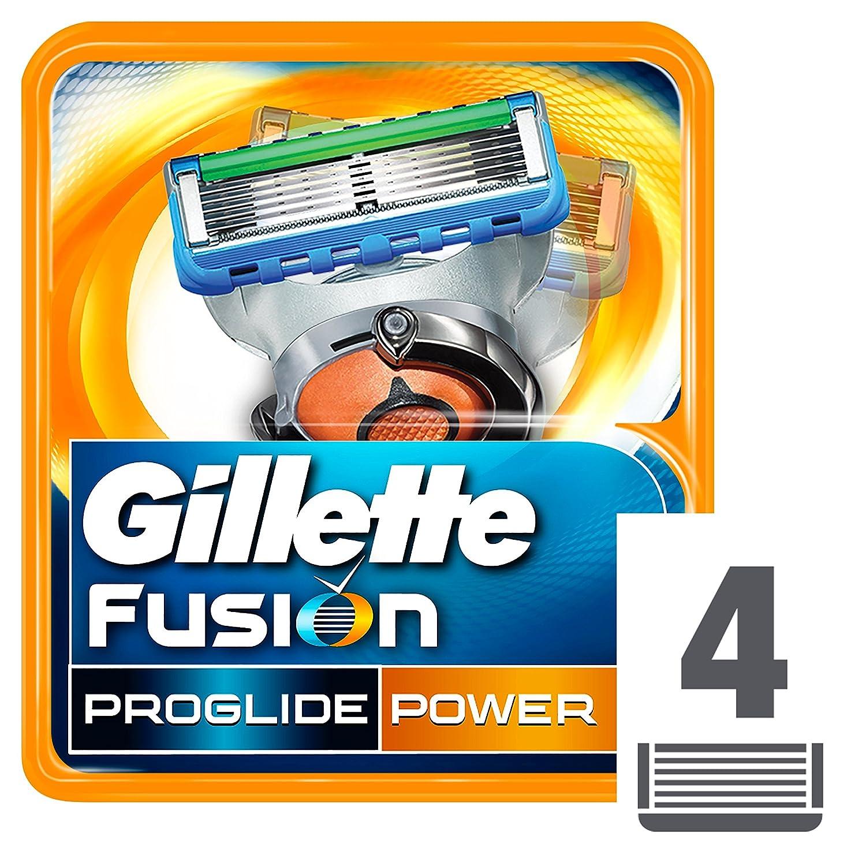 Gillette Fusion ProGlide Power - Cuchillas de recambio para maquinilla de afeitar, 4 unidades Procter & Gamble 10691