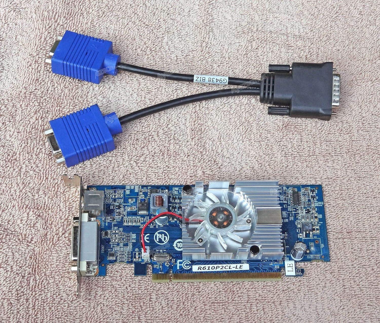 Ayazscmbs Enfriador Ventilador Compatibles para IBM ATI Radeon HD 2400 XT 256MB Video Card DMS-59 Low Profile w/Cable 46R4160