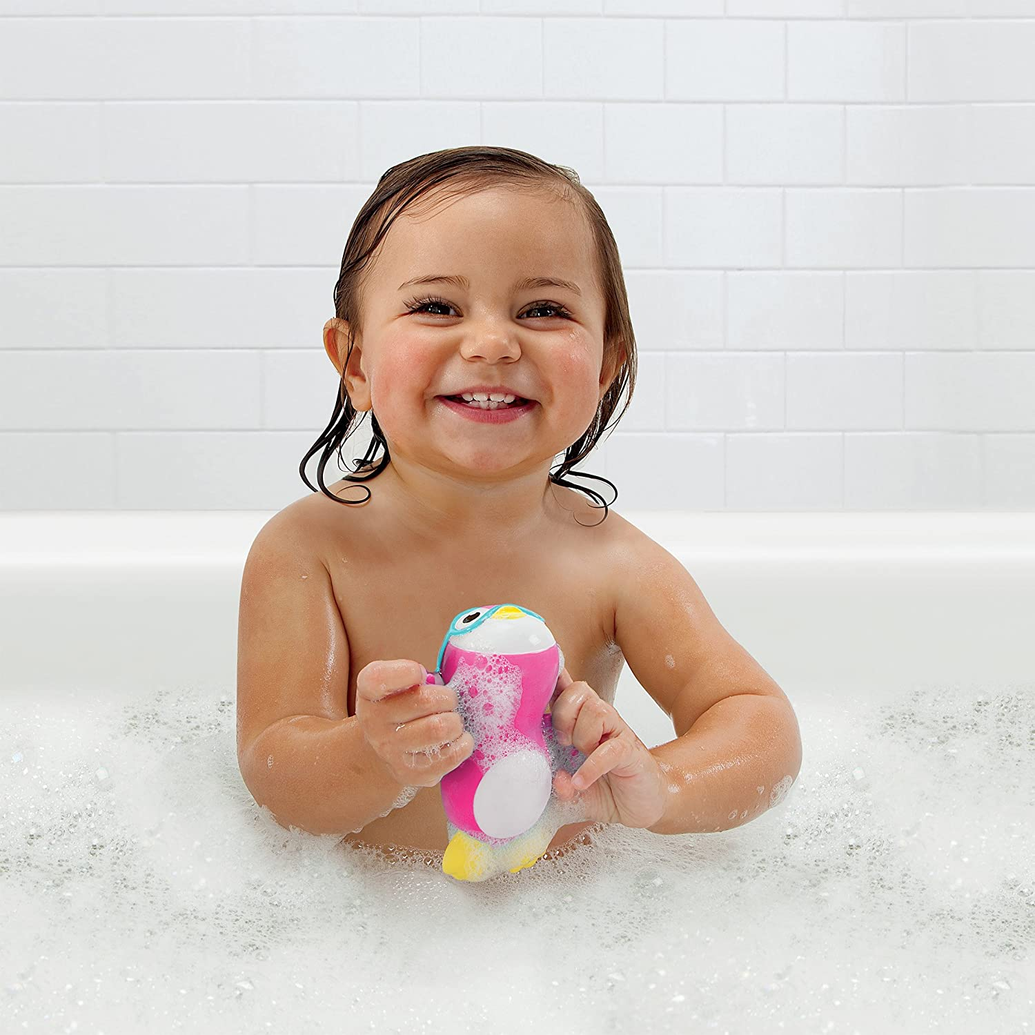 Amazon Munchkin Wind Up Swimming Penguin Bath Toy Pink Baby
