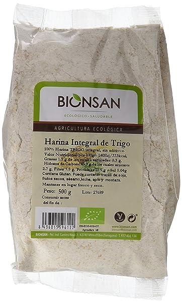 Bionsan Harina Integral de Trigo - 6 Paquetes de 500 gr - Total: 3000 gr