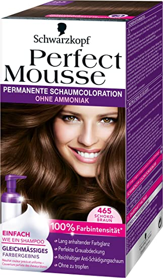 Schokobraun haarfarbe perfect mousse