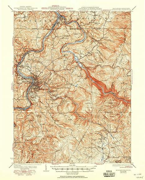 Amazon com: YellowMaps Morgantown WV topo map, 1:62500 Scale