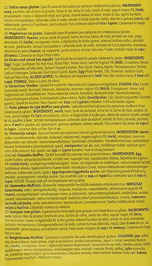 Dr. Schar Muffin Magdalenas - Paquete de 4 x 65 gr - Total ...