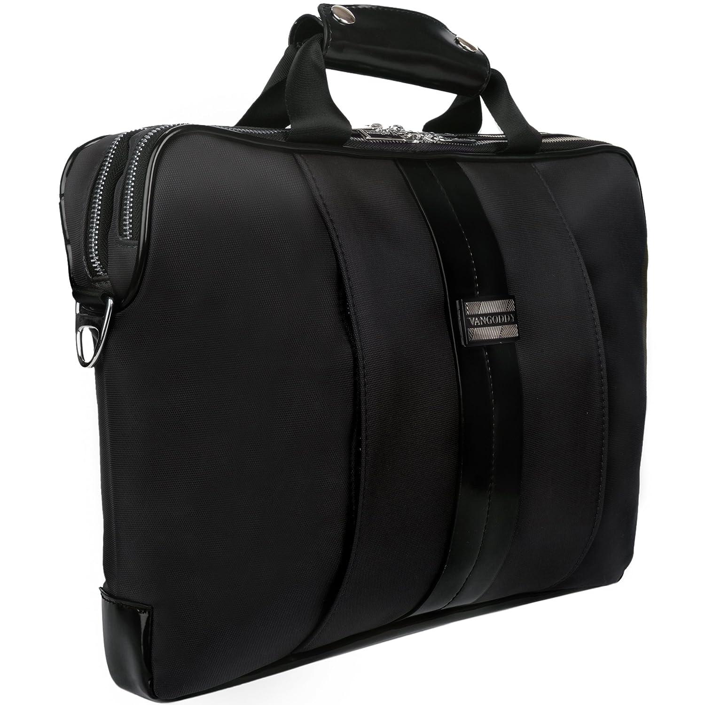 Vangoddy Melissa Messenger and Notebook Carrying Case Shoulder Bag for Laptop, Black, Medium (12-13.6-Inch) MSBLEA111