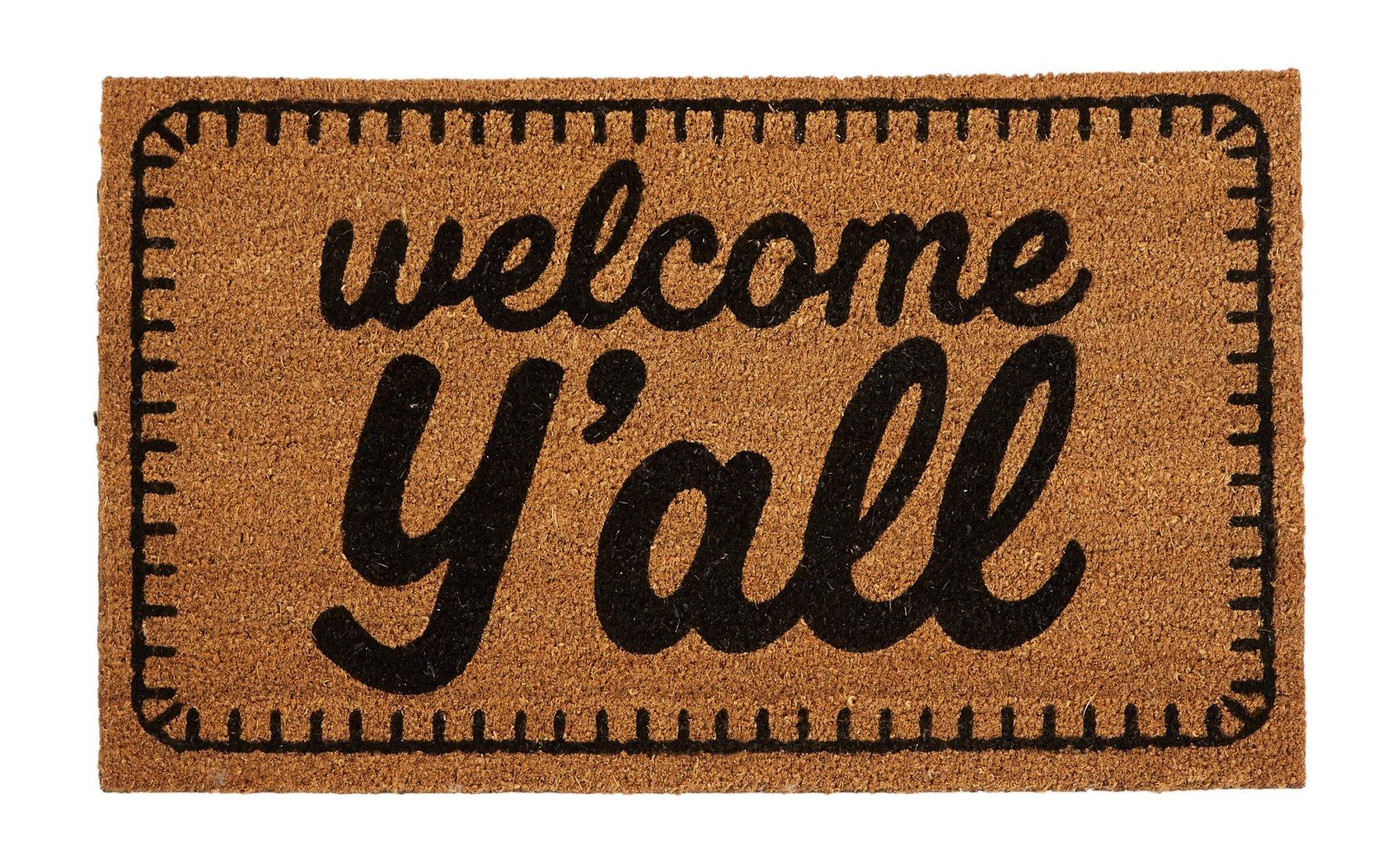 Mud Pie Welcome Y'all Doormat