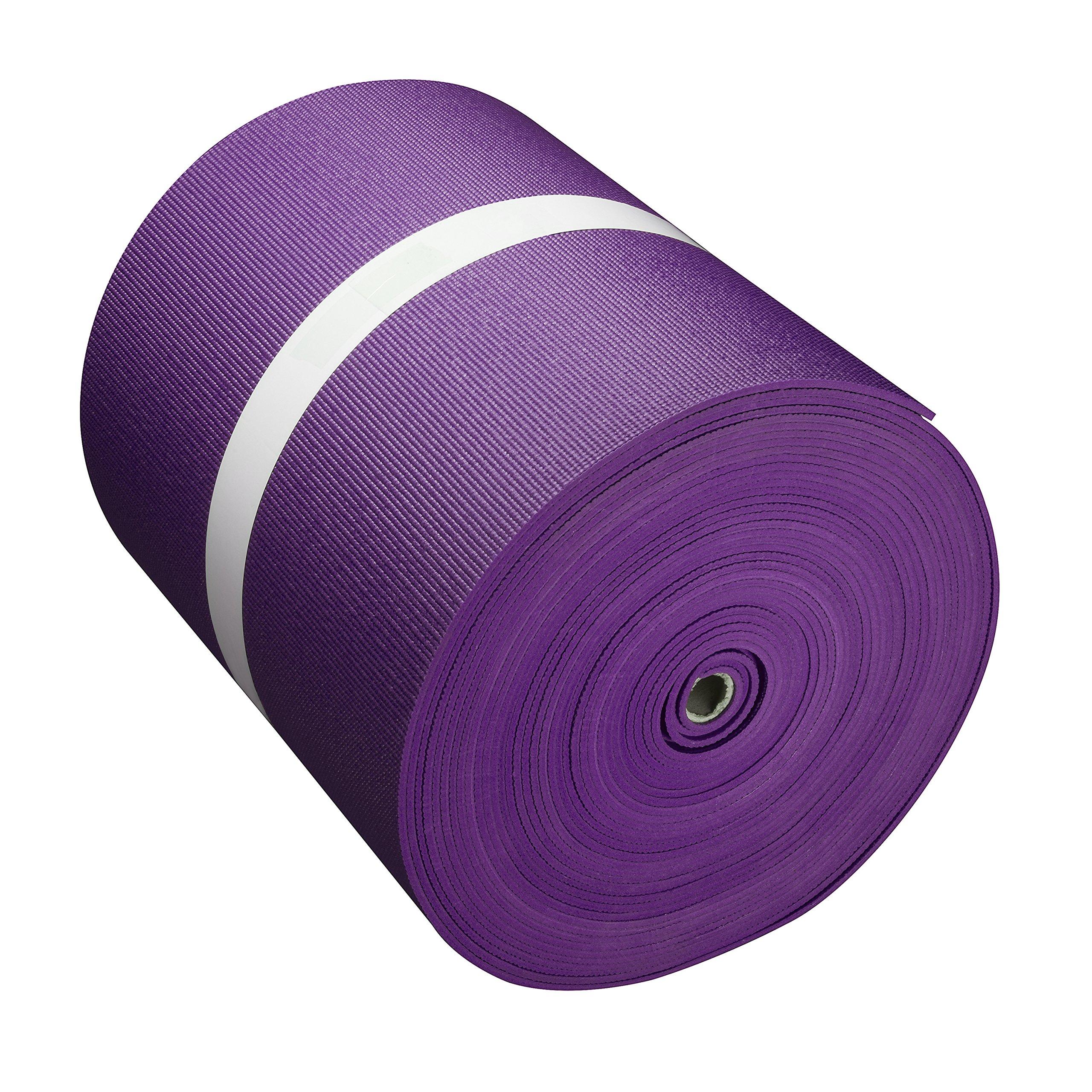 Big Economy Yoga Mat Roll (24''x 5mm x 104 ft) (Purple)