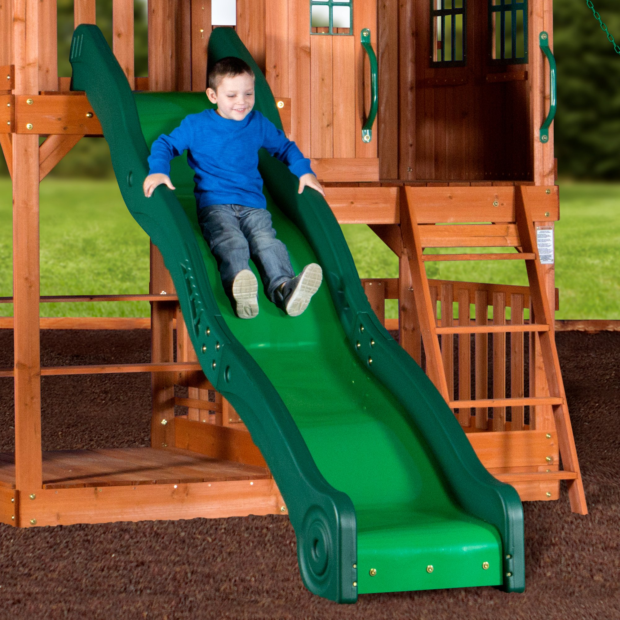 Backyard Discovery Pacific View All Cedar Wood Playset Swing Set by Backyard Discovery (Image #3)
