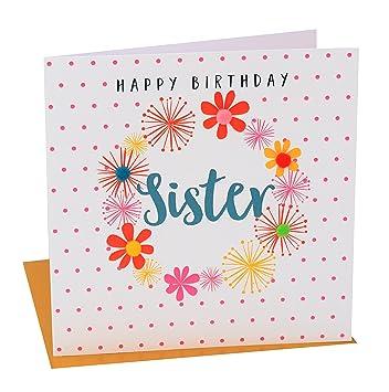 Pom pom pom022 happy birthday sister greeting card amazon pom pom pom022 quothappy birthday sisterquot greeting card m4hsunfo