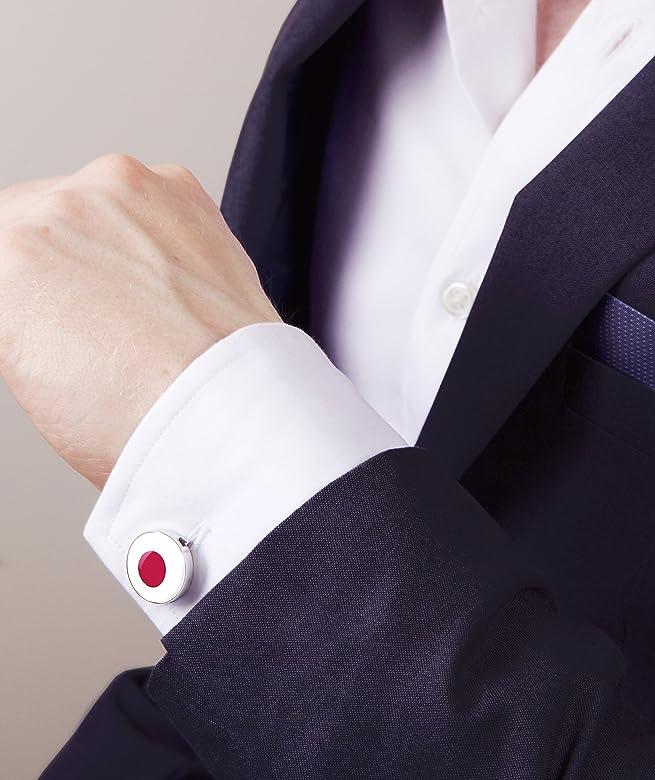 Button Cuff Cubiertas del Botón de la Bandera de Japón (un par): Amazon.es: Joyería