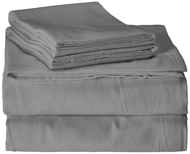 Brielle 100-Percent Cotton Flannel 4 Piece Sheet Set Twin Twin XL Light Blue 807000232086