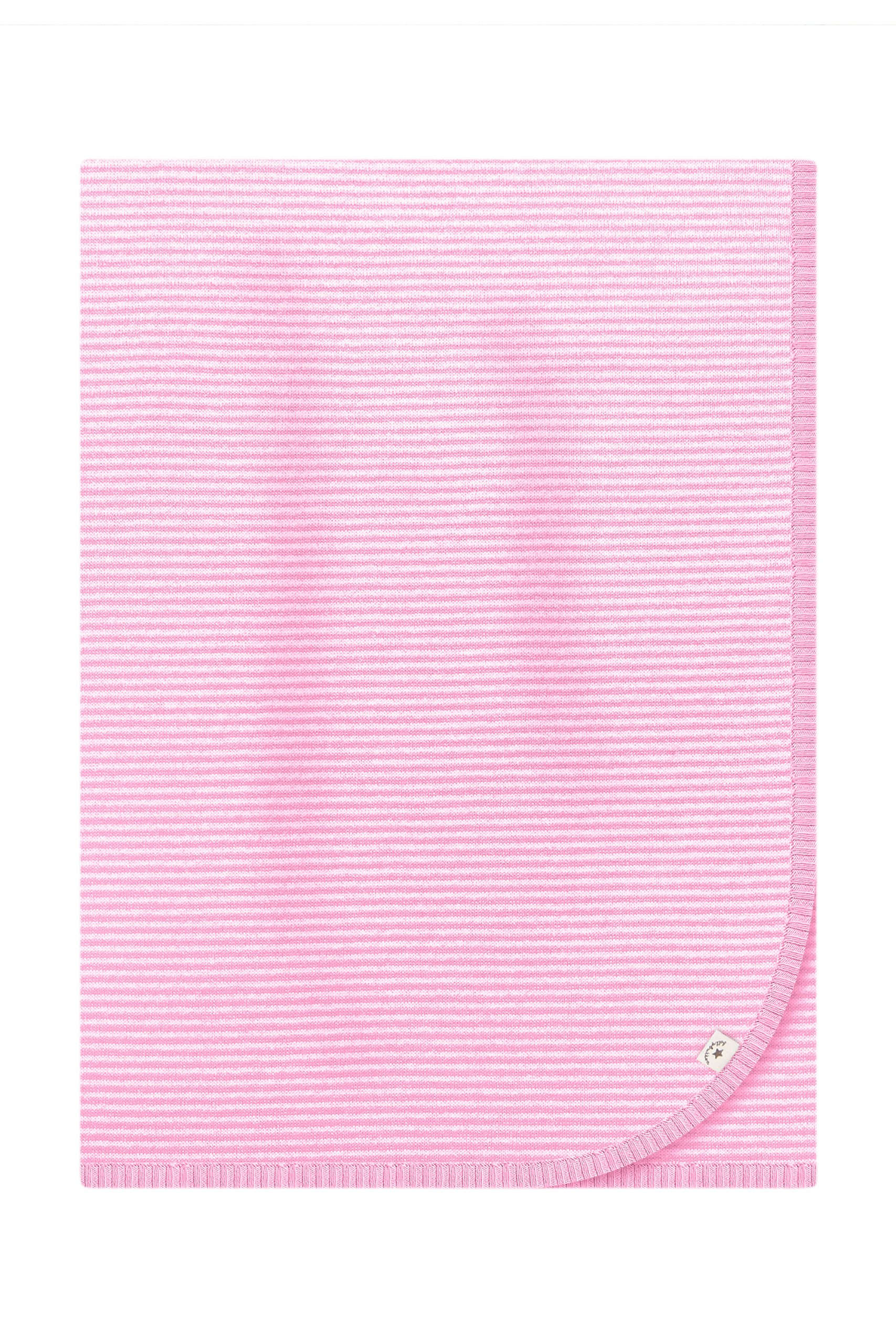 Bellybutton Kids Knitted Blanket White/pale Rose Striped Onesize