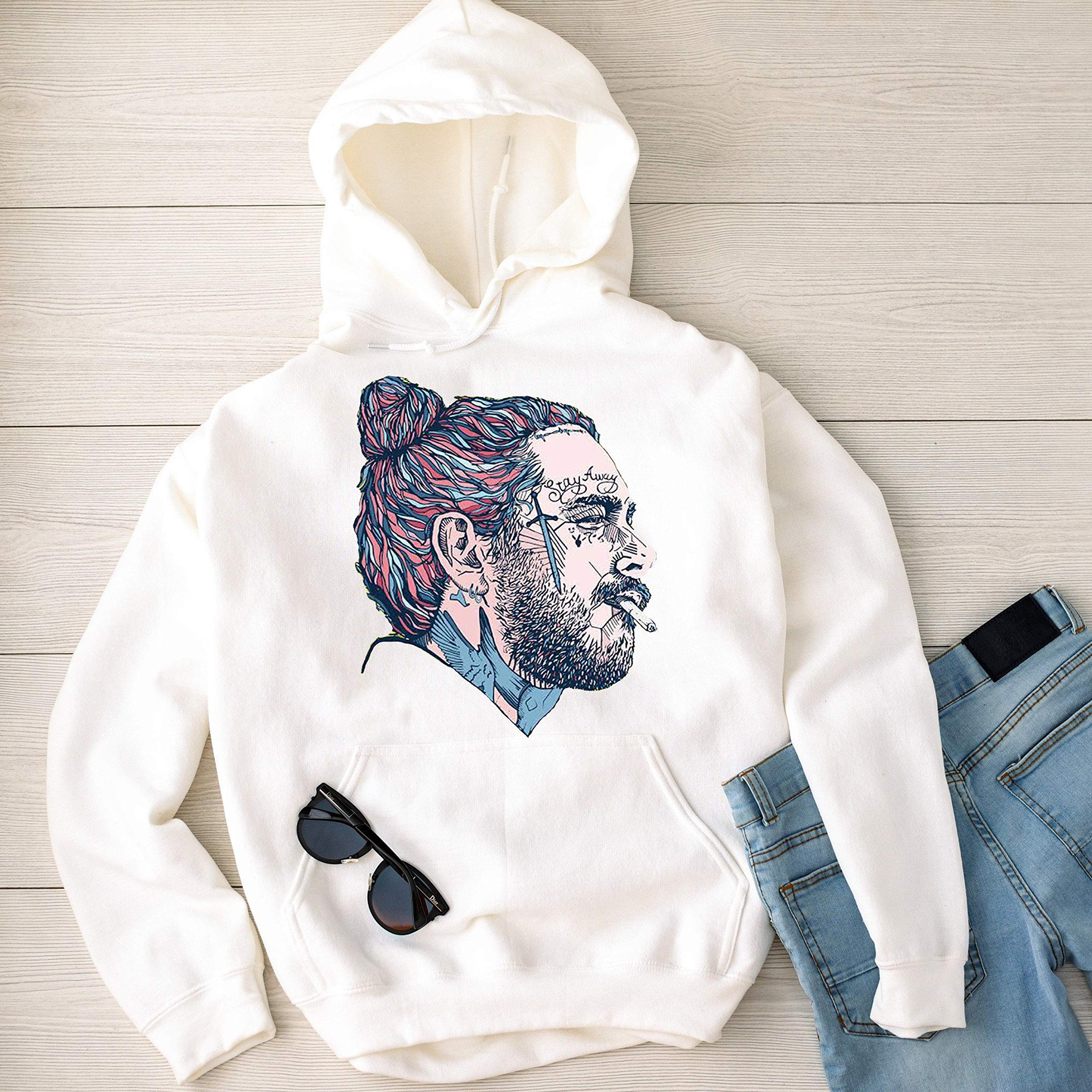 Post Malone Personalized Humor Short Sleeved For Man Black Leave Me Malone Unisex Clothes