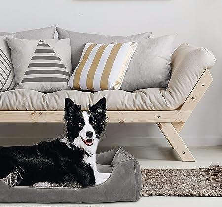 Amazon.com: Cama grande para perro con funda extraíble y ...