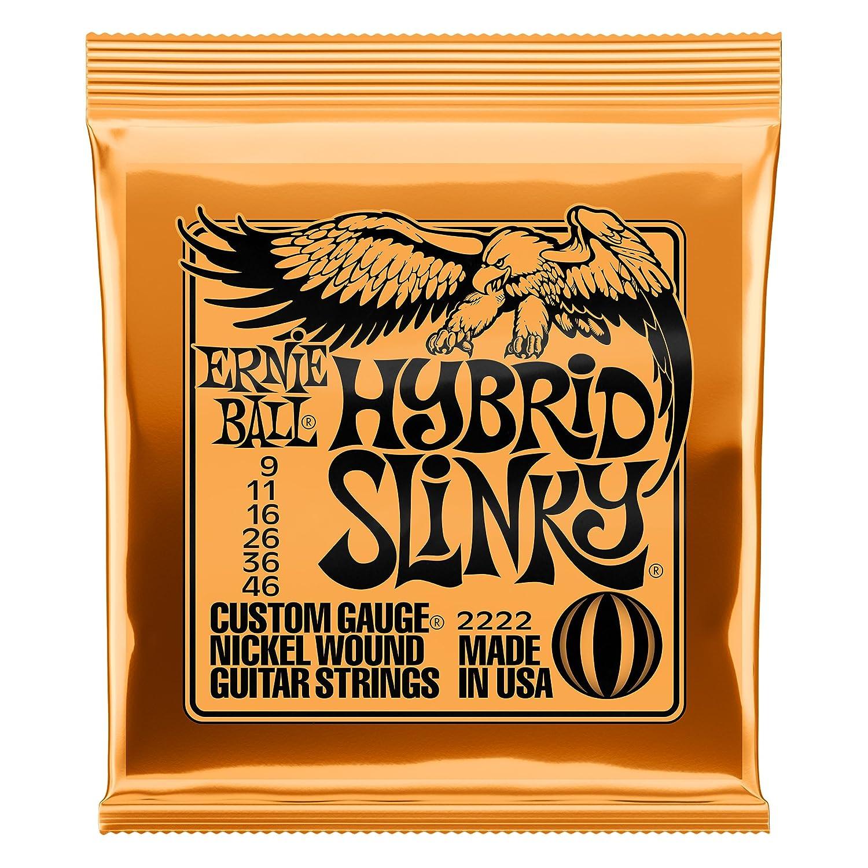 Ernie Ball Super Slinky Nickel Wunde E-Gitarre Saiten 6 Pack 9-42 Gauge