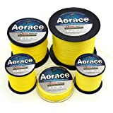 Aorace Braided Line Yellow Color Braided Fishing Line 4 Strands 100M-1000M Braid Fishing Line 8Lb-100Lb Super Strong Braid Line PE Line